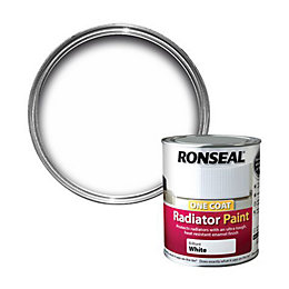 Ronseal Brilliant White Satin Radiator Paint 750 ml