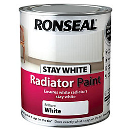 Ronseal Brilliant white Satin Radiator paint 750 ml