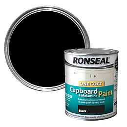 Ronseal One coat Black Satin Cupboard paint 750