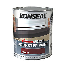 Ronseal Doorstep paint Tile red Satin Doorstep paint0.75L