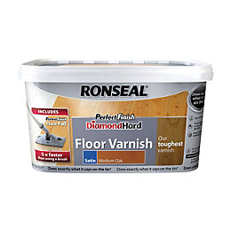 Ronseal Diamond hard Medium oak Satin Floor varnish
