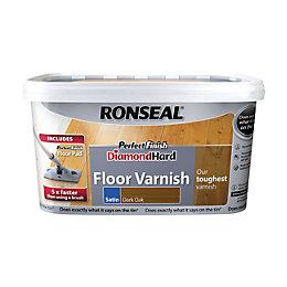 Ronseal Diamond hard Dark oak Satin Floor varnish