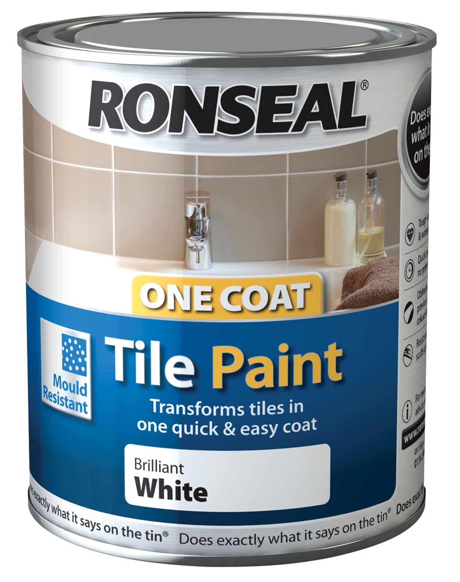 Ronseal Tile Paints White Gloss Tile Paint0.75L | Departments | DIY ...