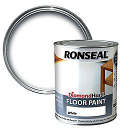 Ronseal Diamond White Satin Floor Paint0.75L