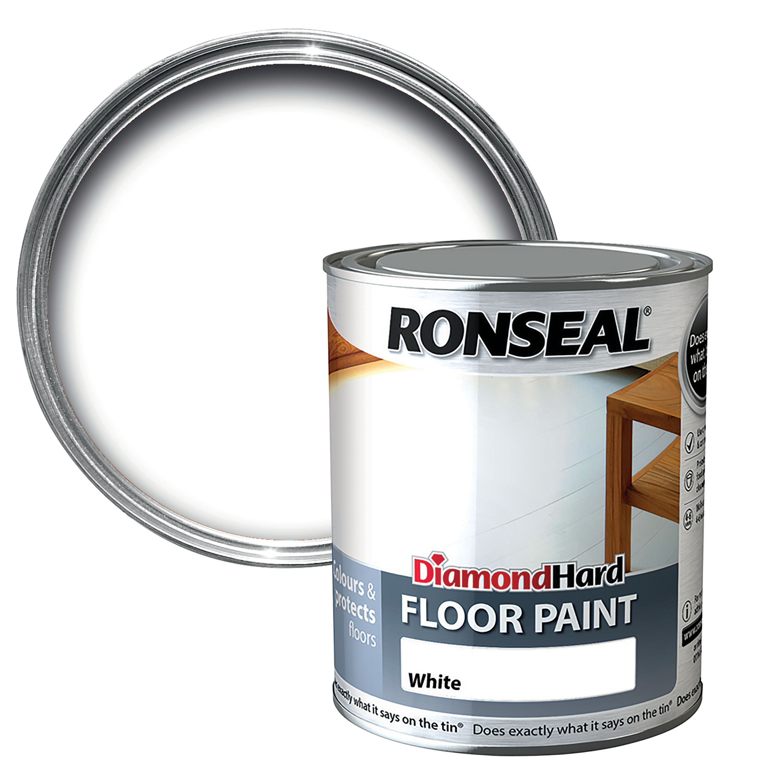 Ronseal Diamond White Satin Floor paint 2 5L | Departments | DIY at B&Q