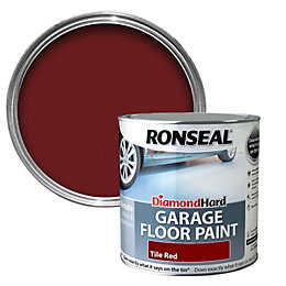 Ronseal Diamond Tile red Satin Garage floor paint2.5L