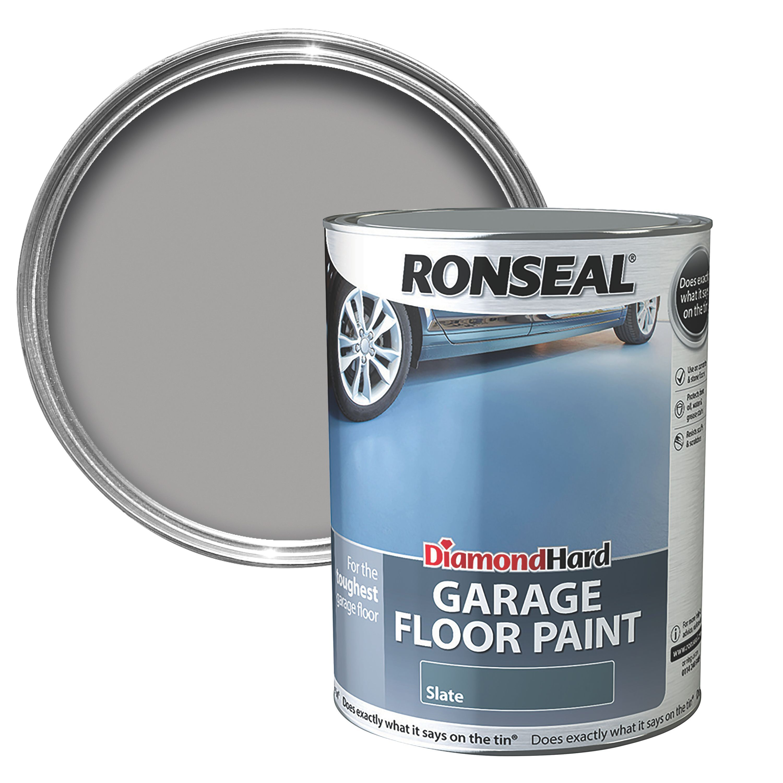 Ronseal Diamond Slate Satin Garage Floor Paint 5l Departments Diy At B Q