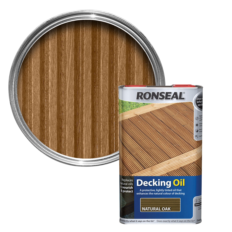 Ronseal Natural Oak Decking Oil 5l Departments Diy At B Amp Q