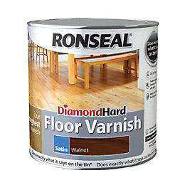 Ronseal Diamond Walnut Satin Floor Varnish 2500ml