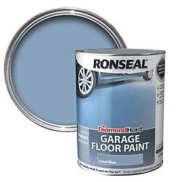 Ronseal Diamond Steel Blue Satin Garage Floor Paint5L