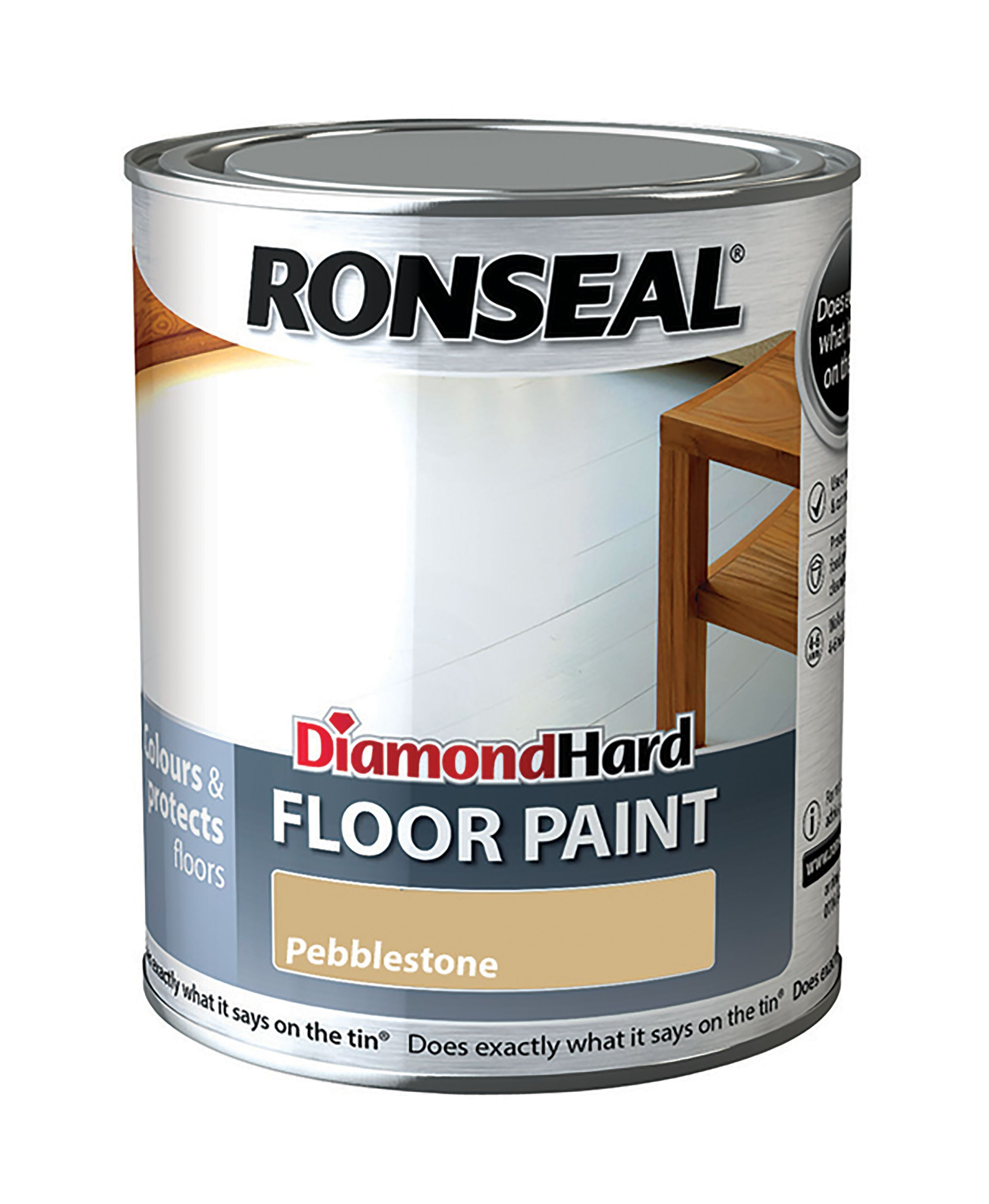 How Hard Is It To Paint Kitchen Cabinets Ronseal Diamond Pebble Stone Satin Floor Paint0 75l