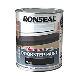 Ronseal Doorstep Paint Black Satin Doorstep Paint0.75L