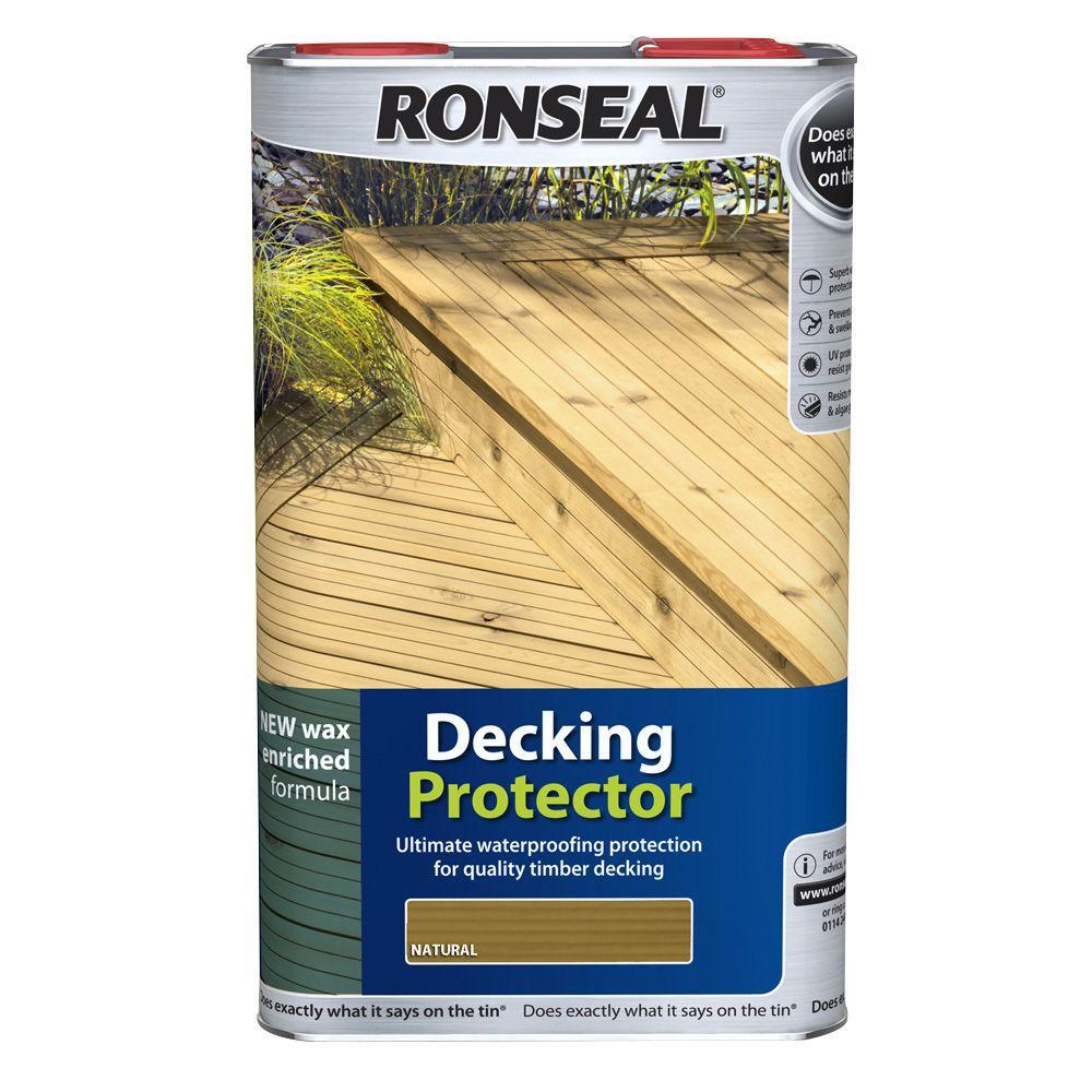 Ronseal matt decking protector 5l departments diy at b q for Homebase decking boards
