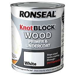 Ronseal Knot Block White Primer & Undercoat 0.75L