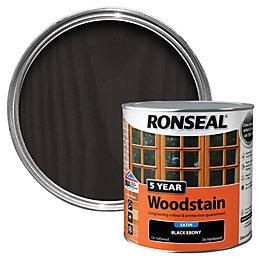 Ronseal Ebony High Satin Sheen Woodstain 2.5L