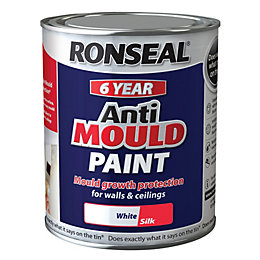 Ronseal Problem Wall Paints White Silk Anti-Mould Paint
