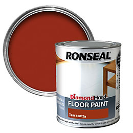 Ronseal Diamond Terracotta Satin Floor paint0.75L