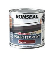 Ronseal Doorstep paint Tile red Satin Doorstep paint0.25L