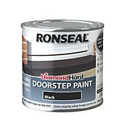 Ronseal Doorstep paint Black Satin Doorstep paint0.25L