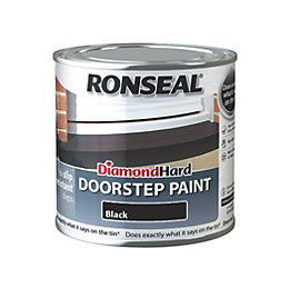Ronseal Doorstep paint Black Satin Doorstep paint0.25L