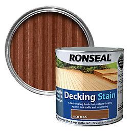 Ronseal Rich teak Matt Decking stain 5L