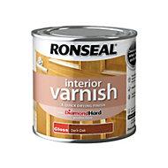 Ronseal Diamond hard Dark oak Gloss Interior varnish 0.25L