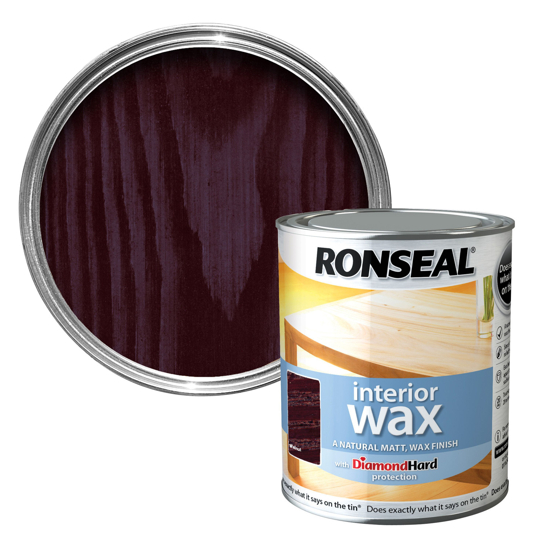 Ronseal Interior Diamond Hard Walnut Matt Wood Wax 0 75l Departments Diy At B Q
