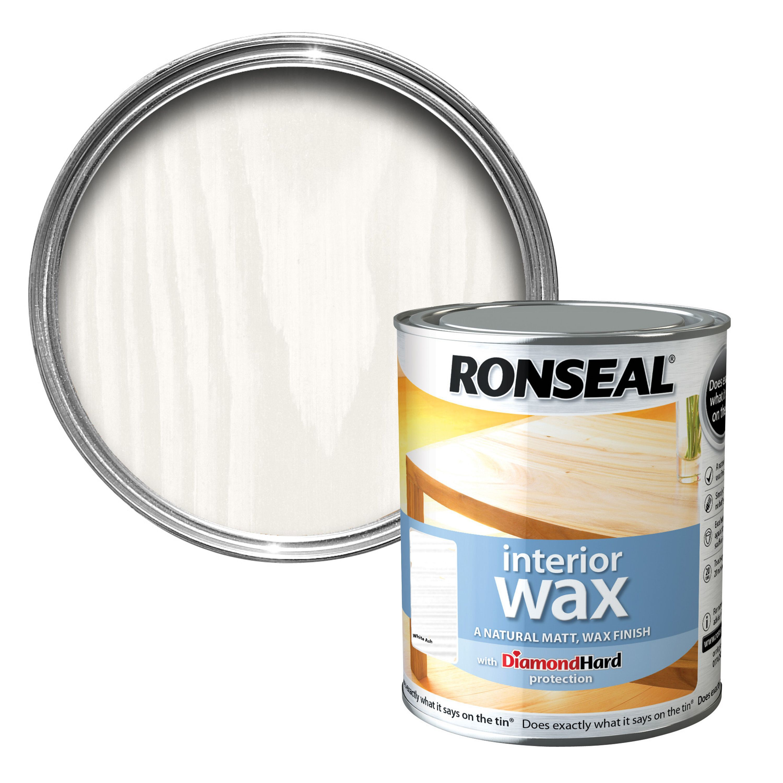 Ronseal Interior diamond hard White ash Matt Wood wax 0.75L ...