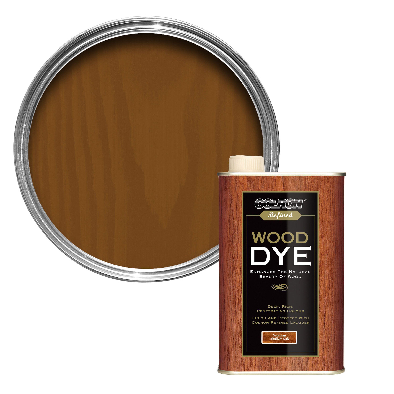 Colron Refined Georgian medium oak Wood dye 0 25L | Departments | DIY at B&Q