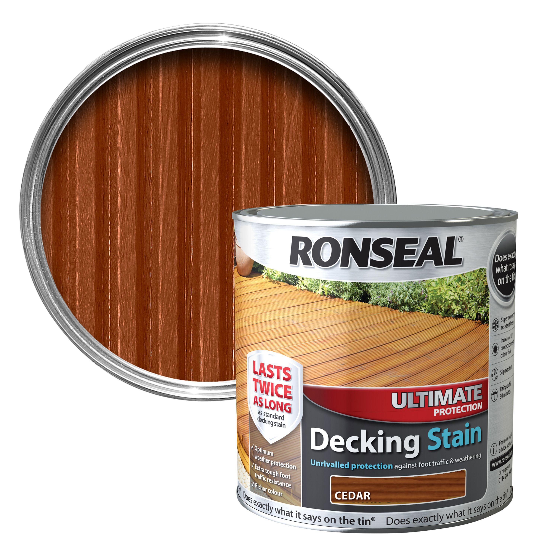 ronseal ultimate cedar matt decking stain 2 5l. Black Bedroom Furniture Sets. Home Design Ideas