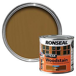 Ronseal Oak High Satin Sheen Woodstain 0.25L