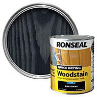 Ronseal Ebony Satin Woodstain 0.75L