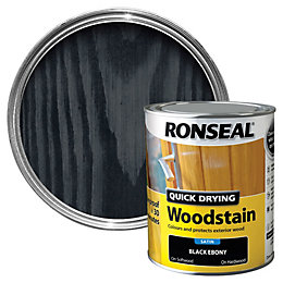 Ronseal Ebony Satin Woodstain 0.75L