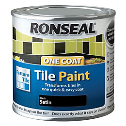 Ronseal Tile Paints Black High Gloss Tile Paint0.25L