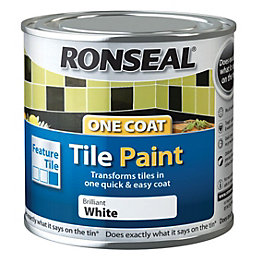 Ronseal Tile paints Brilliant white High gloss Tile