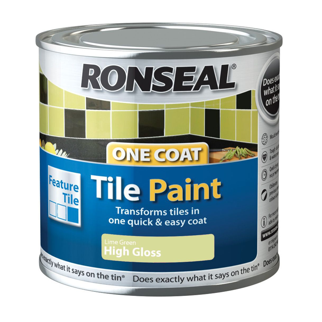 ronseal lime high gloss tile paint0 25l departments diy at b q
