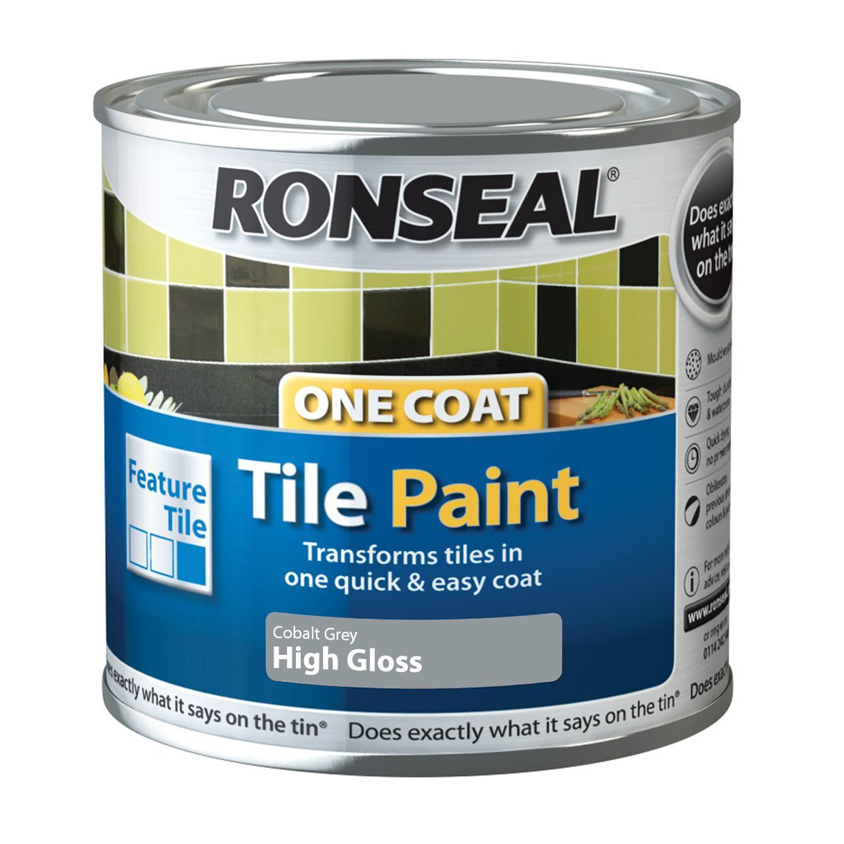 Ronseal Grey High Gloss Tile Paint0 25l Departments