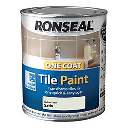 Ronseal Tile Paints Mellow Satin Tile Paint0.75L