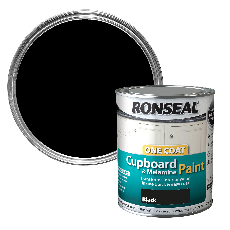 ronseal black gloss cupboard paint 750 ml departments diy at b q