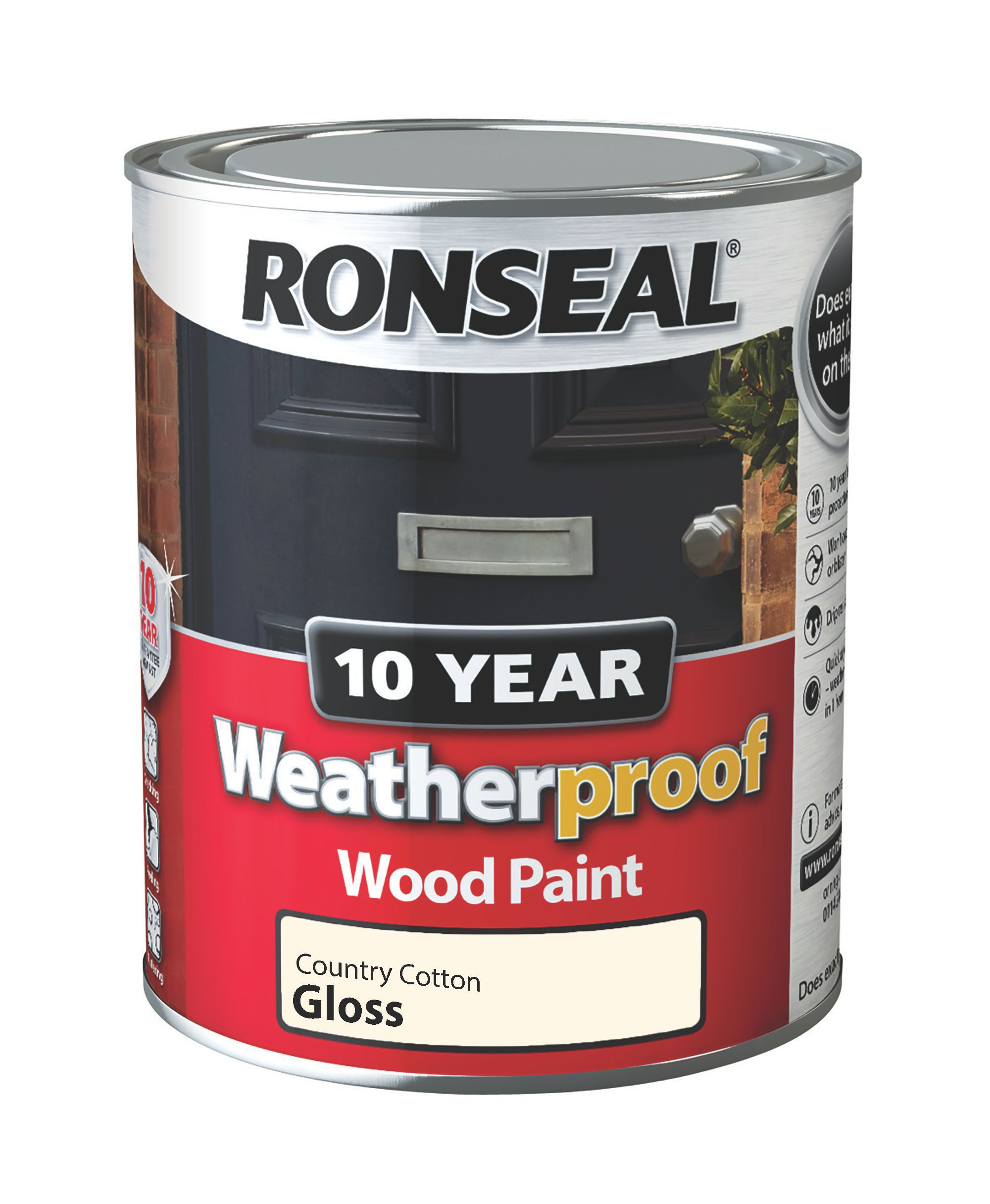 B Q Kitchen Cabinets Sale: Ronseal Country Cotton Gloss Wood Paint 0.75L