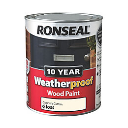 Ronseal Country Cotton Gloss Wood Paint 750ml