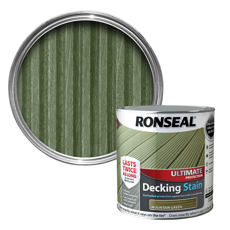 Ronseal Ultimate Mountain Green Matt Decking Stain 2 5l Departments Diy At B Q