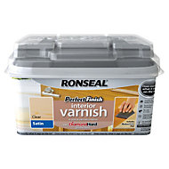 Ronseal Perfect finish Clear Satin Interior varnish 0.75L