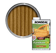 Ronseal Ultimate Natural oak Hardwood garden furniture oil 1L