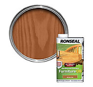 Ronseal Ultimate Natural teak Hardwood garden furniture oil 1L