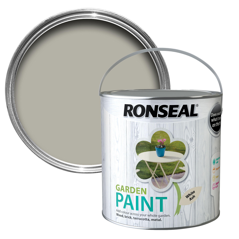 Ronseal Garden White Ash Matt Garden Paint 2 5l Departments Diy At B Amp Q