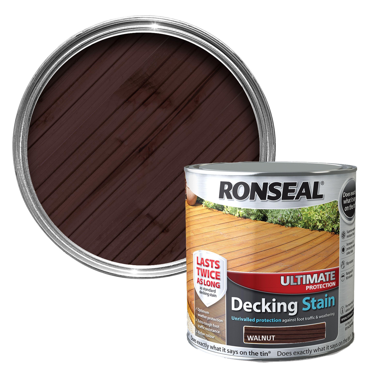 Ronseal Ultimate Walnut Matt Decking Stain 2500ml