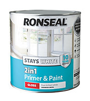 Ronseal White Gloss Primer & paint 2.5L