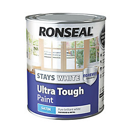 Ronseal Pure brilliant white Satin Wood & metal