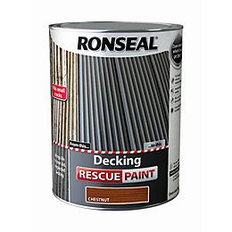 Ronseal Deck rescue Chestnut Matt Opaque Decking paint